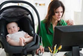 на работу с ребёнком