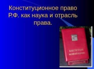 система конституционного права как отрасли права
