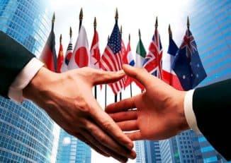 взаимодействие в сотрудничестве по международному праву