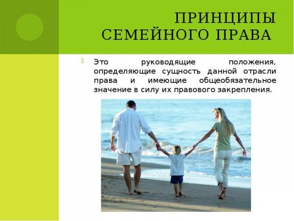 принципы семейного права
