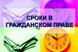 виды сроков в гражданском праве