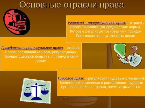 отрасли права