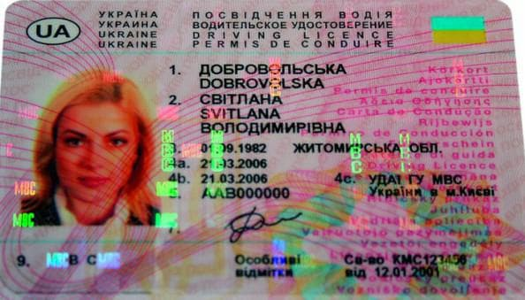 международное удостоверение в Украине